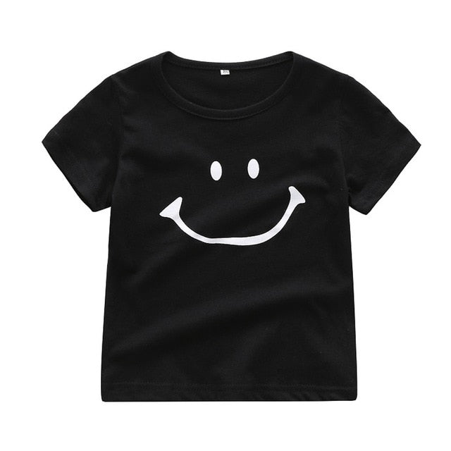 Smile Cartoon Short Sleeve T-shirt