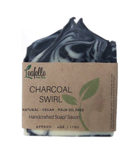 Load image into Gallery viewer, Charcoal Swirl Soap Bar