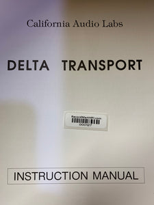 CALIFORNIA AUDIO LABS DELTA TRANSPORT