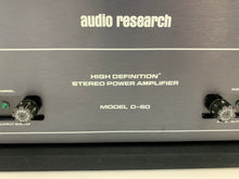 Load image into Gallery viewer, AUDIO RESEARCH D 60 AMPLIFIER