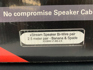 PS AUDIO XSTREME STATEMENT BIWIRE SPEAKER CABLES 2.5 METER
