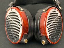 Load image into Gallery viewer, AUDEZE LCD-4 CHROME W/CUSTOM RINGS IN PADUK WOOD W/CASE
