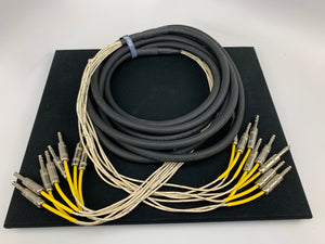 "HORIZON 8 CHANNEL 1/4"" to 1/4"" TRS BALANCED SNAKE CABLE 20'"