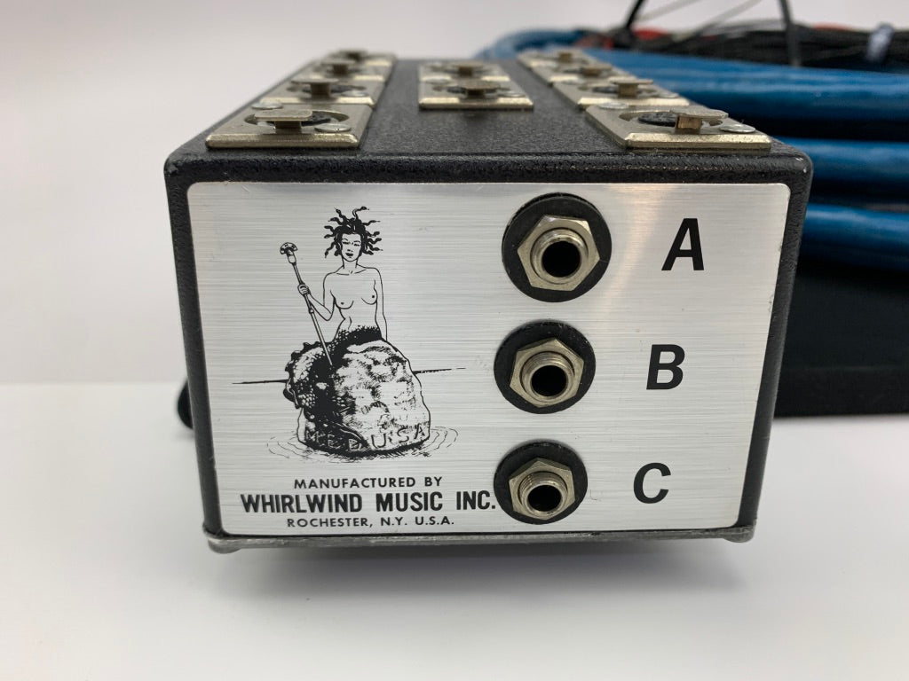 WHIRLWIND MEDUSA 50FT 19 CHANNEL BOX TO FANOUT SNAKE W/ 16 XLR AND 3, 1/4