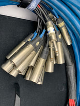 "Load image into Gallery viewer, WHIRLWIND MEDUSA 50FT 19 CHANNEL BOX TO FANOUT SNAKE W/ 16 XLR AND 3, 1/4"" JACKS"
