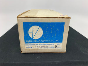 MITCHELL A. COTTER VERION MK-2 TYPE P MOVING COIL PICKUP TRANSFORMER
