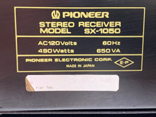 Load image into Gallery viewer, PIONEER SX-1050 RECEIVER