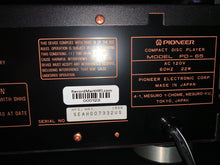 Load image into Gallery viewer, PIONEER ELITE PD-65 CD PLAYER