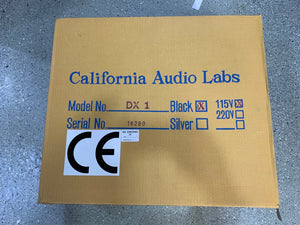 CALIFORNIA AUDIO LABS DX 1 CD PLAYER