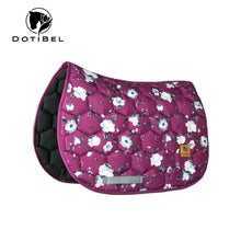 Load image into Gallery viewer, Dotibel Saddle Pad Burgundy Flowers