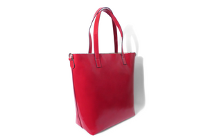 Leather tote bag, Made in Italy.