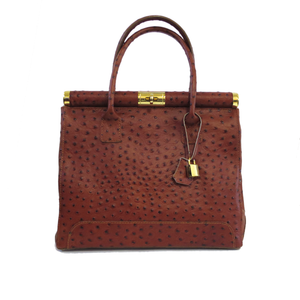Ostrich Leather Handbag, Made in Italy
