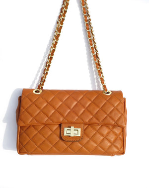 Classic Quilted leather bag made in Italy