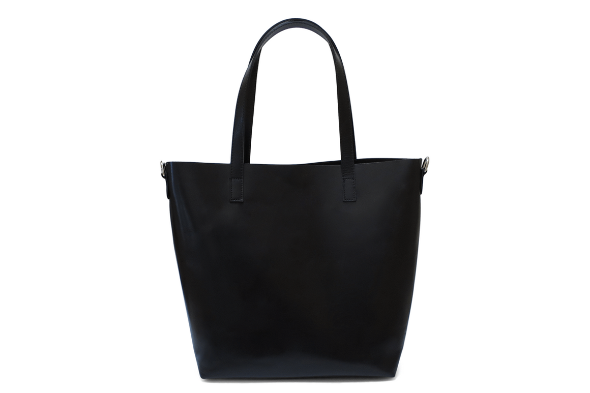 Handcrafted in Italy Leather tote bag in Black
