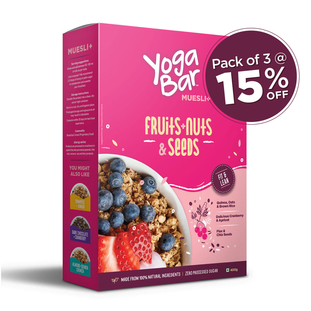 Fruits, Nuts + Seeds Wholegrain Muesli -  3 Boxes