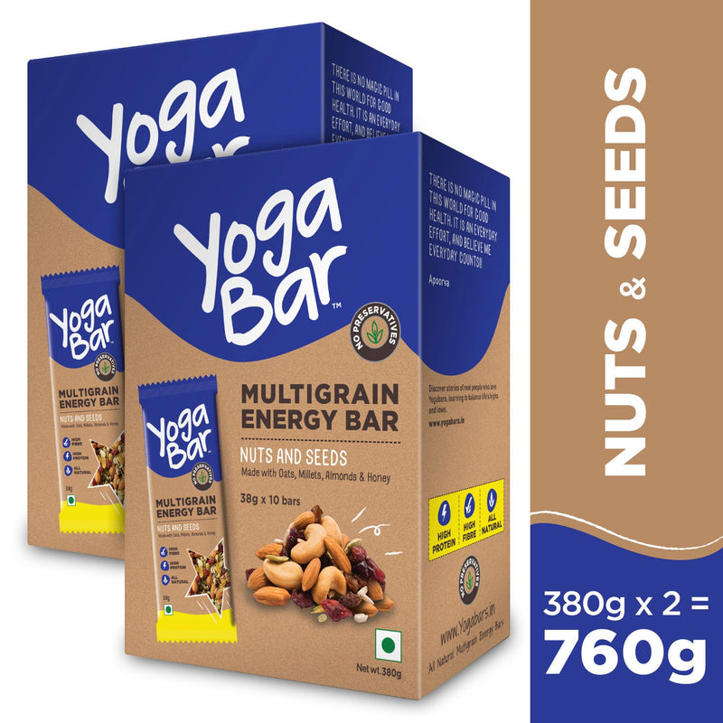 Nuts & Seeds Energy Bars - 2 Boxes