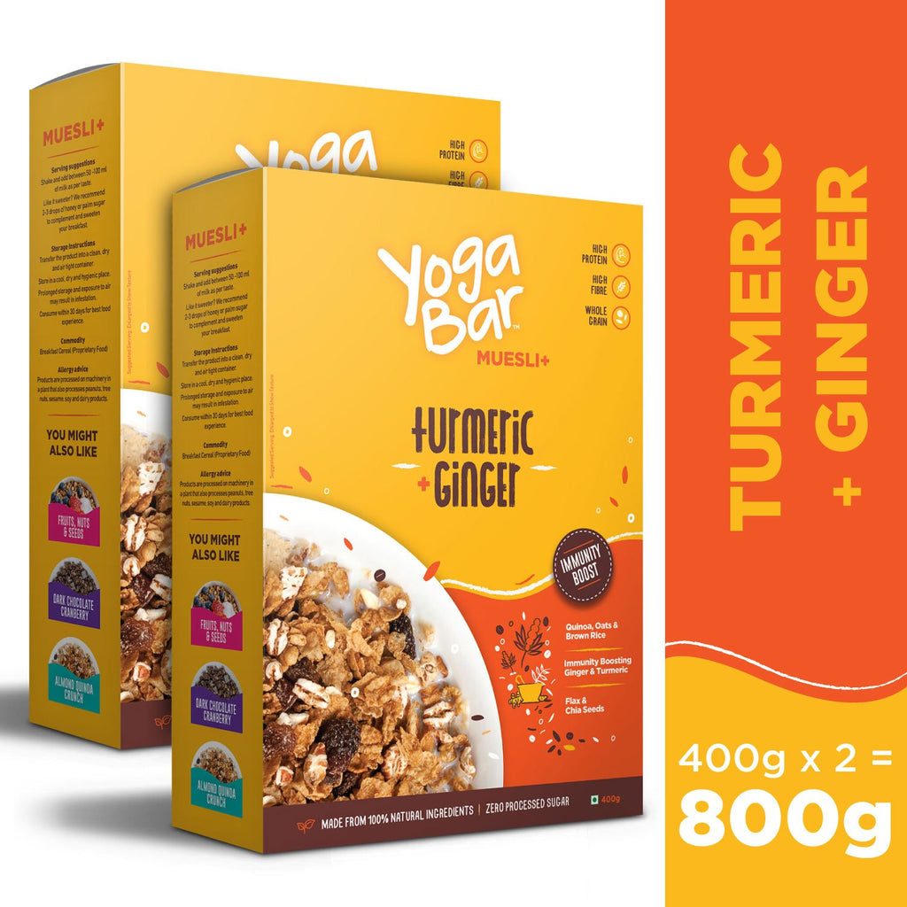 Turmeric + Ginger Wholegrain Muesli - 2 Boxes