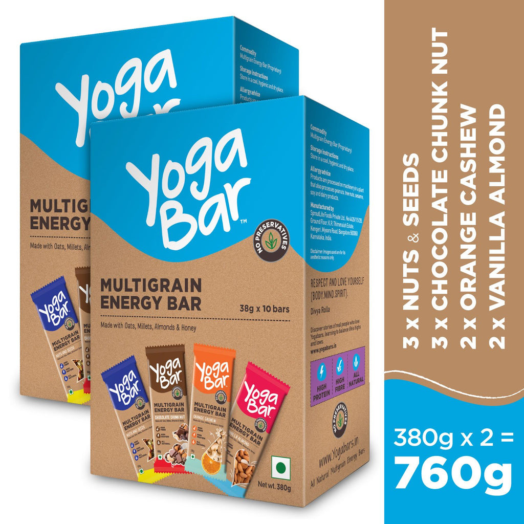 Assorted Energy Bars - 2 Boxes