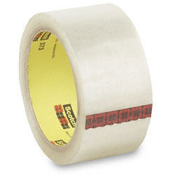 "3M 373 Scotch High Performance Box Sealing Tape - 2"" x 55 yds - Clear"