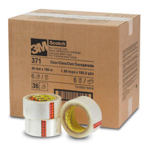 3M Scotch 371 Box Sealing Tape Clear 48 mm x 100M