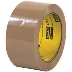 "3M 371 Tan Carton Sealing Tape - 2"" x 110 yds - 36 rolls/case"