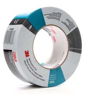 3M 3900 Black Duct Tape 48mm x 55M, 7.7mil