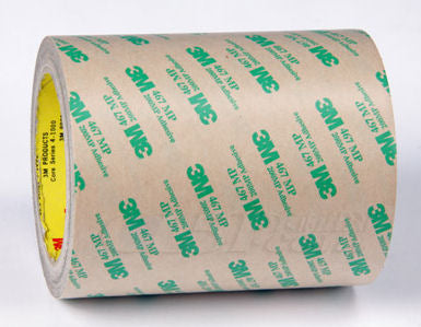 "3M 467MP Adhesive Transfer Tape 12 in x  180yds, 3"" core"