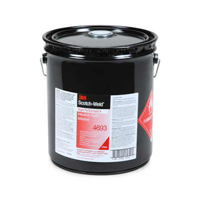 3M Scotch-Weld Industrial Plastic Adhesive 4693 Light Amber - 5 Gallon