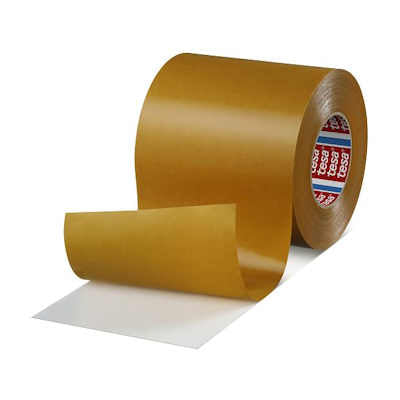 "Tesa 4970 Double Sided White PVC Tape 12"" x 55M with High Adhesion"