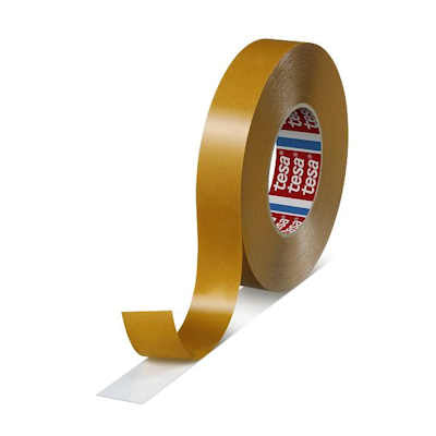 "Tesa 4970 Double Sided White PVC Tape 1/2"" x 55M with High Adhesion"