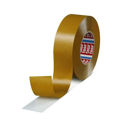 "Tesa 4970 Double Sided White PVC Tape 3"" x 55M with High Adhesion"