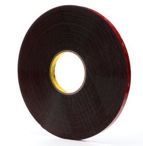 3M 5952 Black Acrylic VHB Foam Tape 1/2 in x 36yds