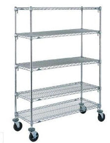 "Metro 5-Shelf 21"" x 72""x 69""H  Super Erecta Super Adjustable Stem Caster Cart"
