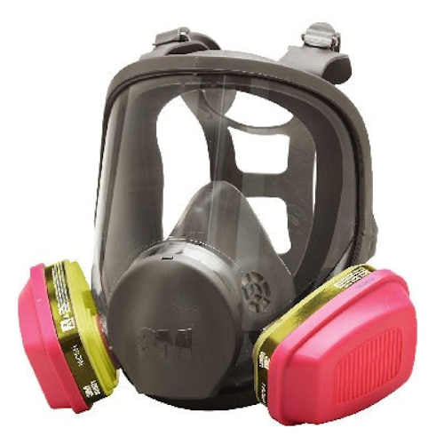 3M 6000 Series Full Face Multi-Purpose Respirator with Filters