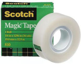 3M 810 Magic Transparent tape 19mm x 33M