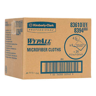 "Wypall 83610 Microfiber Cloths with MicroBan - 15.75"" x 15.75"" -  Yellow - Sold as a case"