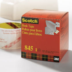 "3M Scotch 845 Book Repair Tape - 4"" x 13.7M"