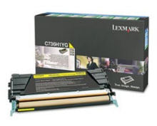 Lexmark C736H1YG High Capacity Toner for C736, X736, X738 - Yellow - 10000 page yield
