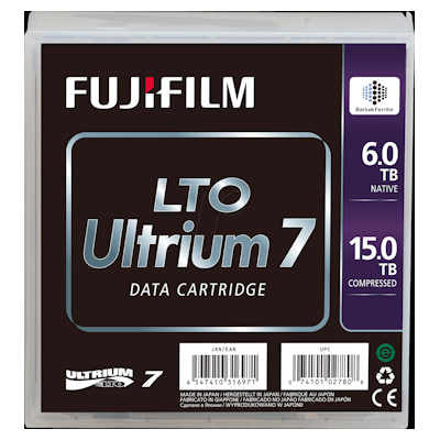 FujiFilm LTO-7 Tape Media 6TB Native / 15TB Compressed