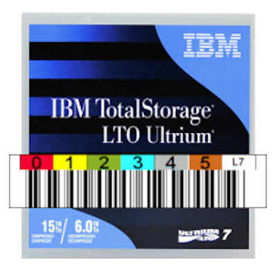 IBM LTO-7 Ultrium Data Cartridge 6TB Native / 15TB