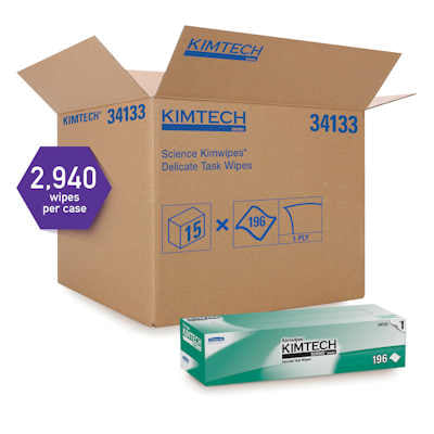 "Kimwipes EX-L, 34133, 12"" x 12"", 15 packages/cs - Sold as a case"