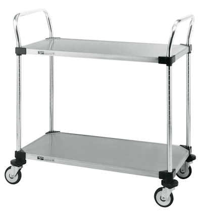 "Metro MW104 2-Shelf Solid Stainless Steel Utility Cart 18"" x 30"""
