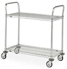"Metro MW605 Super Erecta 18"" x 36"" x 38""H Two Shelf Utility Cart"