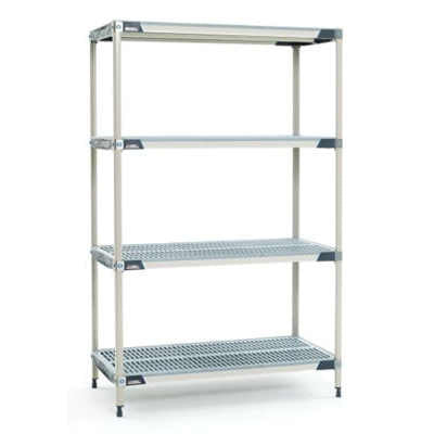 "METROMAX i Open Grid Shelving unit  - 4 Shelf unit - 24"" x 60"" x 63""H"