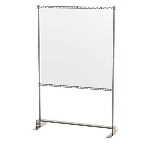 "Metro Slim Shield Stand 18"" x 48"" x 74""H with clear panel"