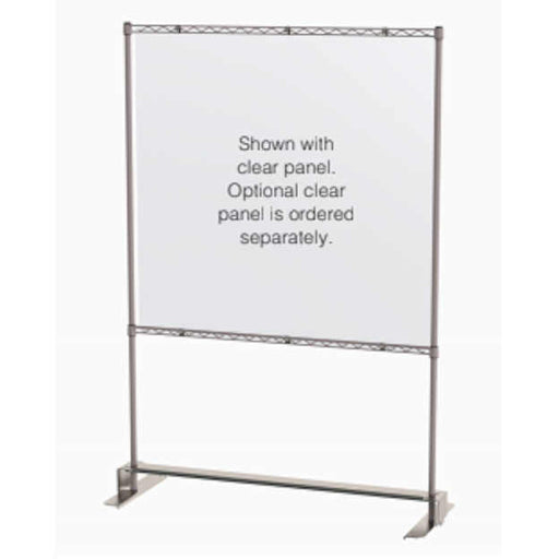 "Metro Slim Shield Stand 18"" x 48"" x 74""H with optional clear panel"