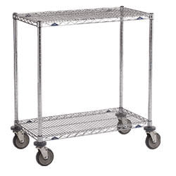 "Metro Wire Table Truck 2-Shelf 18""x 60""x32""H w/5"" Polyurethane casters"