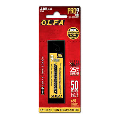 Olfa 9mm ABB-50B UltraMax Black Blades, 50 Blades/pk, Model# 9149