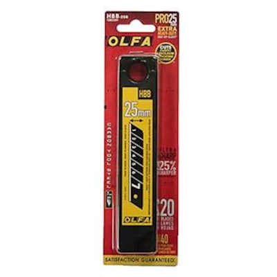 Olfa 25MM Extra Heavy Duty UltraMax Black Blades, HBB-20B, 20/pack # 1082209