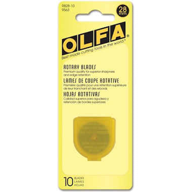 Olfa 28mm Rotary Blades (RB28-10), 10 Blades per pack